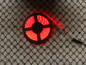 5 metres Red LED strip (5630, 12V input, 60 LEDs/m, waterproof)