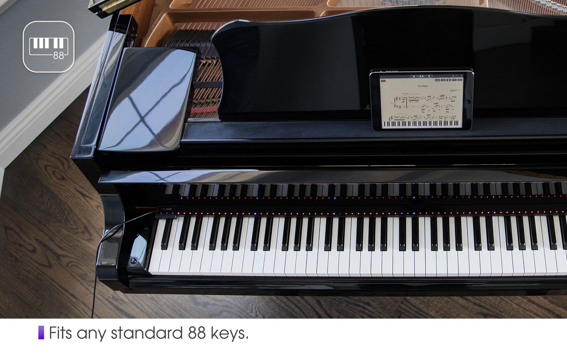 This gadget turns your old piano into an educational 'smart' piano