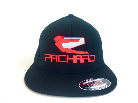 Packard Performance Flex Fit Hat Embroidered Logo Flat Brim