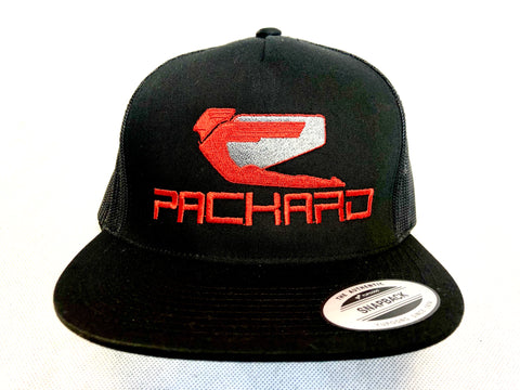 Packard Performance Embroidered Trucker Hat Flat Brim