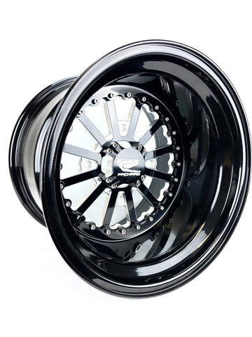 *Nova - Gloss Black by Ultra Light w/Center Cap W/FREE LUG NUTS
