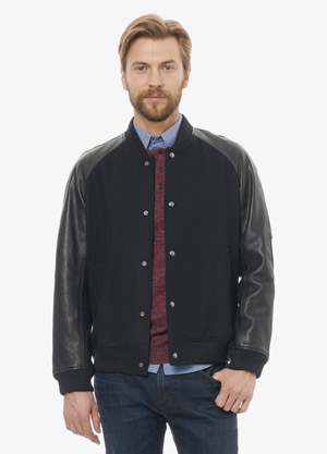 Vince Mens Leather Bomber