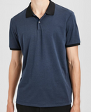 Theory band collar polo