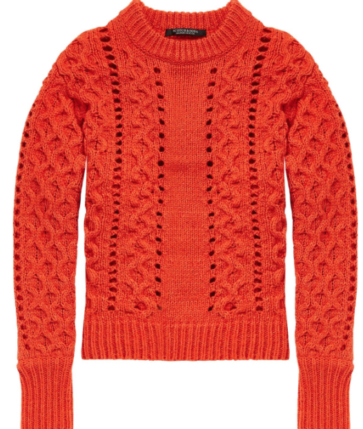 Scotch & Soda crew neck w/ cable stitches