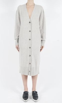 McQ womens lambswool long cardigan