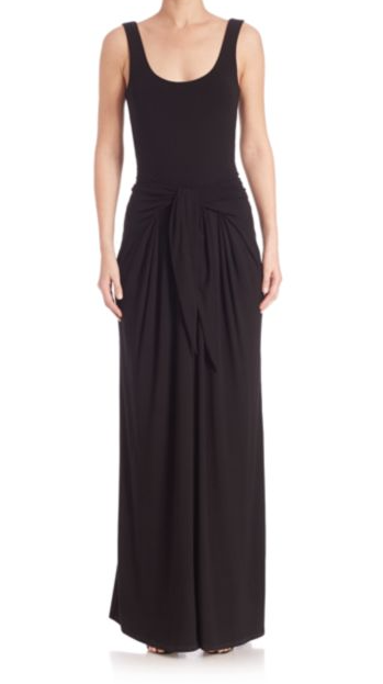L'Agence melissa long tie-front dress