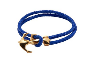 Nialaya mens stingray w/ gold anchor