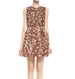 Red Valentino Leopard jacquared dress
