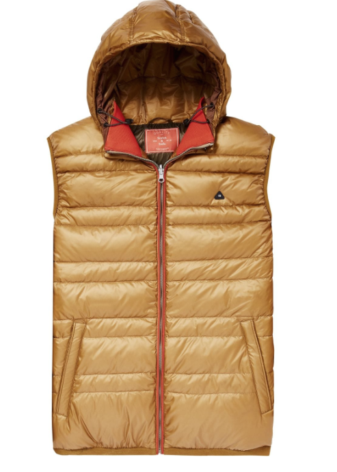 Scotch & Soda reversible down hoodie vest