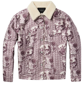 Scotch & Soda printed trucker jacket