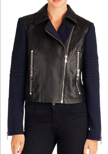 Jbrand womens scuba/leather jacket