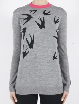 McQ womens swallow jacq crew neck