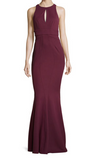 Zac Posen Red Wine long gown