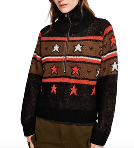 Scotch & Soda knitted anorak w/ star pattern