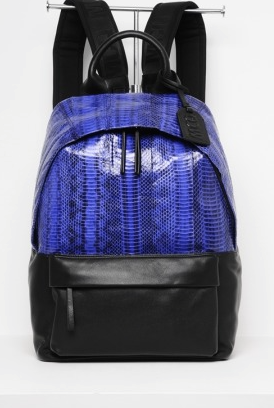 MCQ mens embossed bag