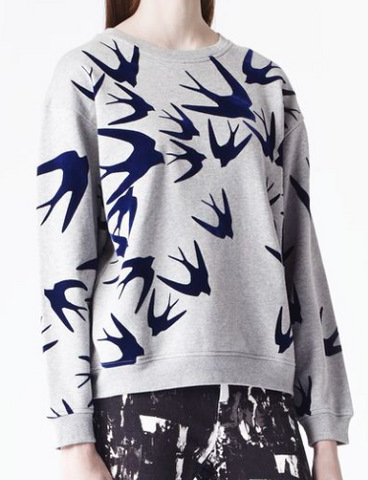 MCQ womens felt swallow sweatshirt