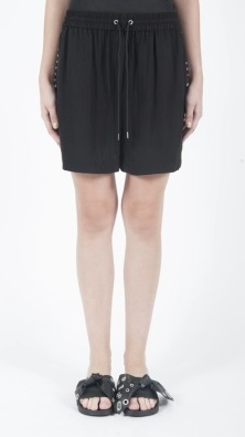 McQ Womens studded tux shorts