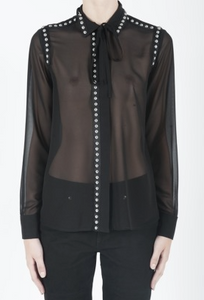 McQ Womens Studdded Georgette shirt