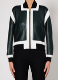 McQ womens panneled bomber