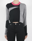 McQ womens colourblock crew neck