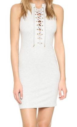 10 Crosby lace up knit dress