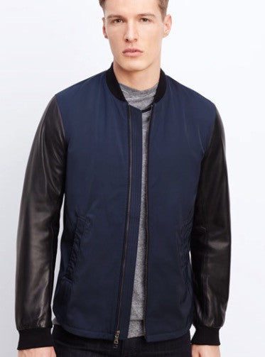 Vince mens mixed media jacket