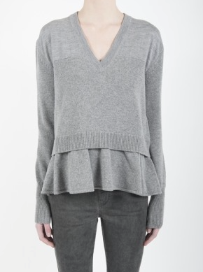McQ womens contrast basic vneck