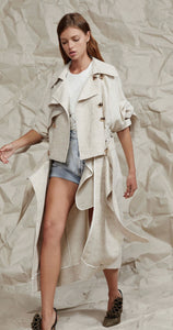 Acler reece trench coat
