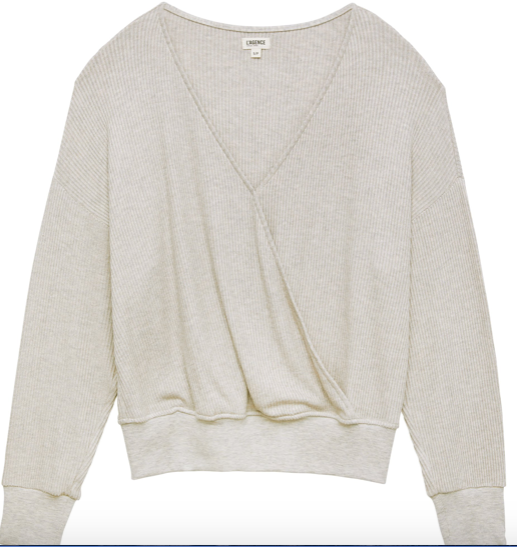 L'AGENCE amber l/s wrap top