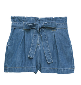 L'AGENCE hillary paperbag shorts