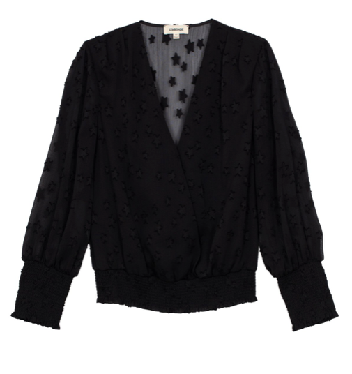 L'AGENCE dulce cross front blouse