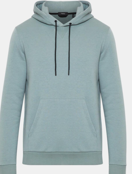 Theory hooded fleece sweatshirt