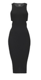 Pinko ribbed viscose dress