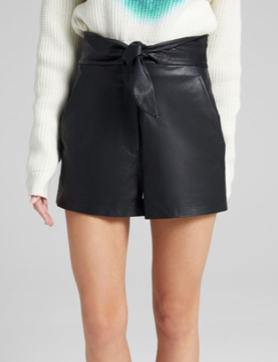 A.L.C. leather kerry short