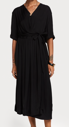 Scotch & Soda midi wrapover dress