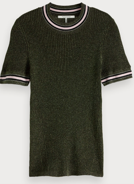Scotch & Soda short sleeve lurex knit