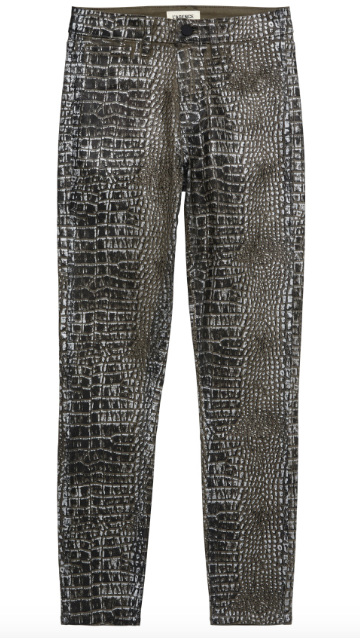 L'AGENCE margot high rise croc foil
