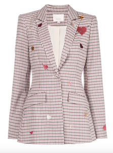 Cinq a Sept check estelle blazer
