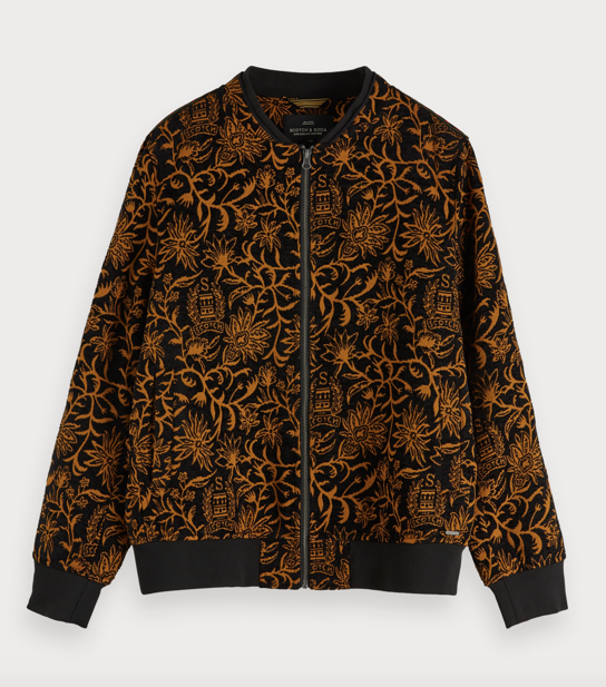 Scotch & Soda mens jacquard bomber jacket