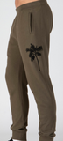 ATM french terry pants/ palm print