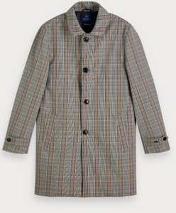 Scotch & Soda check print trench coat