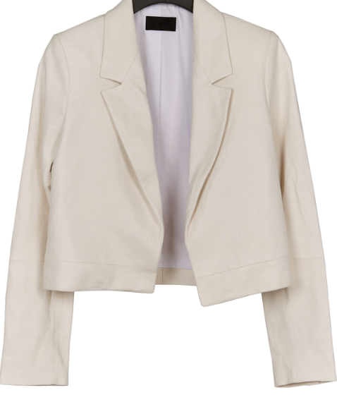 RtA wynn crop leather blazer