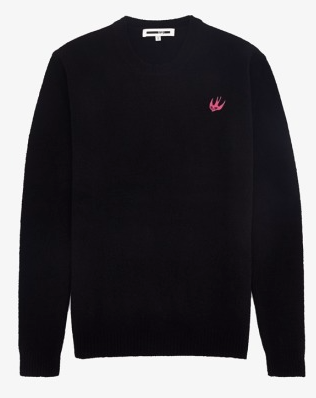 McQ mens swallow crew neck sweater