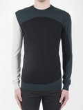McQ mens colourblock crew neck