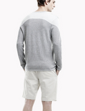 Theory malvo sweater in light foundry multi