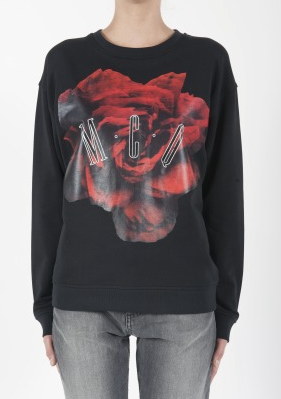 McQ  Womens Classic Red Rose Sweatshirt