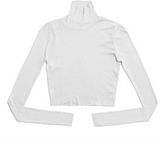 Cotton Citizen womens melbourne crop turtleneck