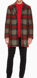 Scotch & Soda mens tartan coat