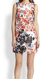 Red Valentino silk abstract floral dress