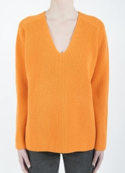 McQ womens ribbed v neck jumper